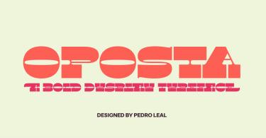 Oposta [1 Font] | The Fonts Master