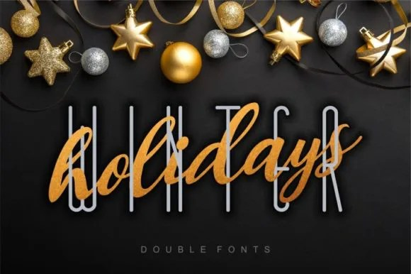 Winter Holidays Duo [5 Fonts]