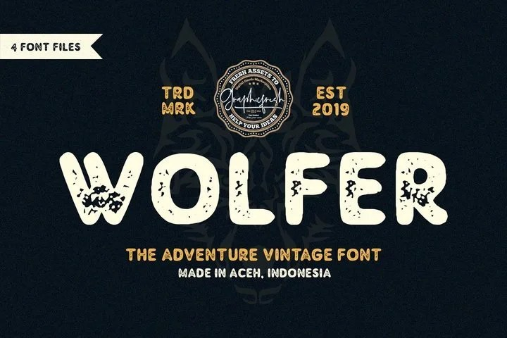 Wolfer [4 Fonts] | The Fonts Master