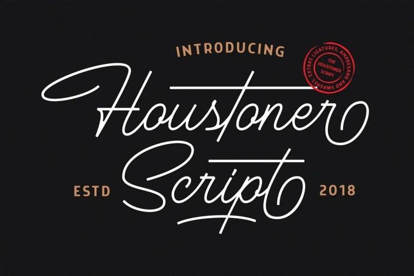 Houstoner Script [2 Fonts]   The Fonts Master