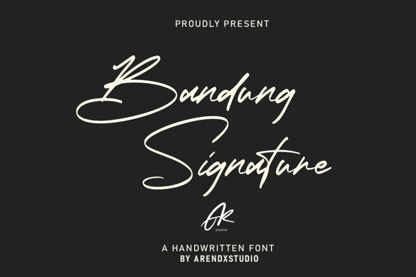 Bandung Signature [1 Font] | The Fonts Master