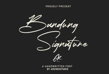 Bandung Signature [1 Font]