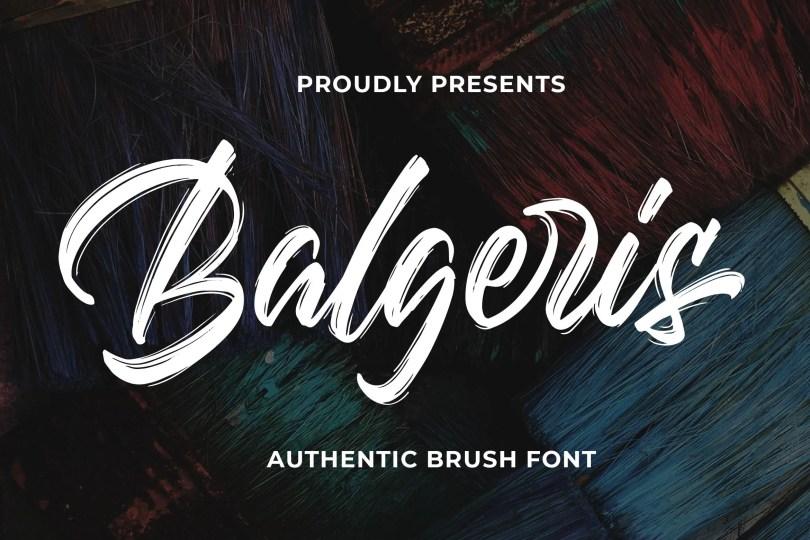 Balgeris [1 Font]   The Fonts Master