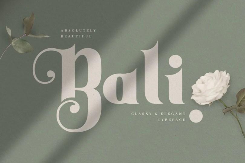 Bali [1 Font] | The Fonts Master