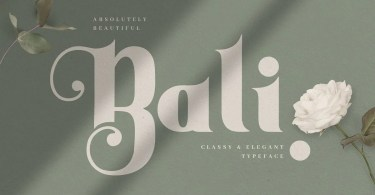 Bali [1 Font] | The Fonts Master