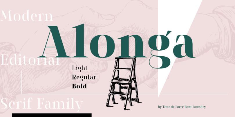 Alonga [3 Fonts] | The Fonts Master
