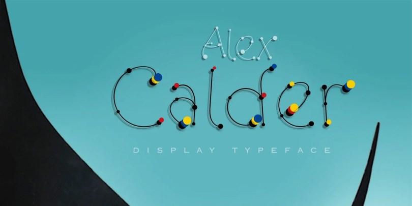 Alex Calder [2 Fonts] | The Fonts Master