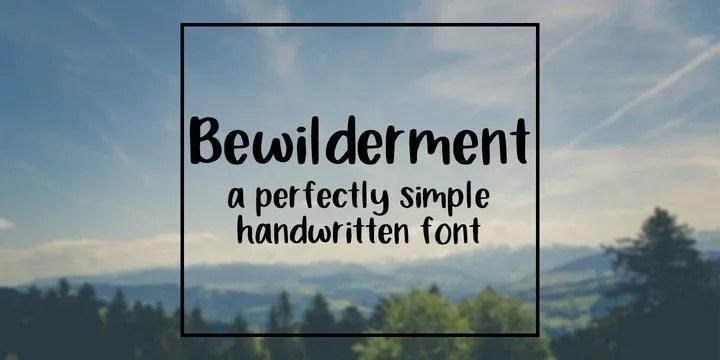 Bewilderment [1 Font] | The Fonts Master