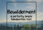 Bewilderment [1 Font] | The Fonts Master