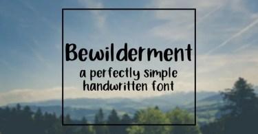 Bewilderment [1 Font]