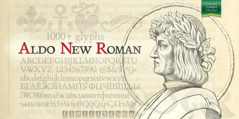 Aldo New Roman [1 Font] | The Fonts Master