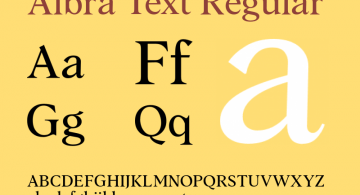 Albra Text [6 Fonts] | The Fonts Master
