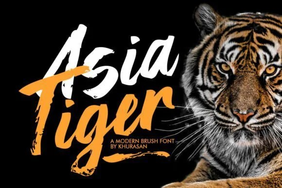 Asia Tiger [1 Font] | The Fonts Master