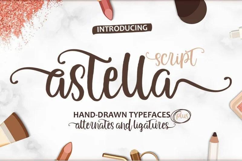 Astella Script [1 Font] | The Fonts Master