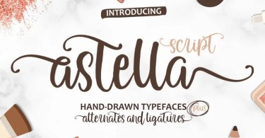 Astella Script [1 Font] | The Fonts Master