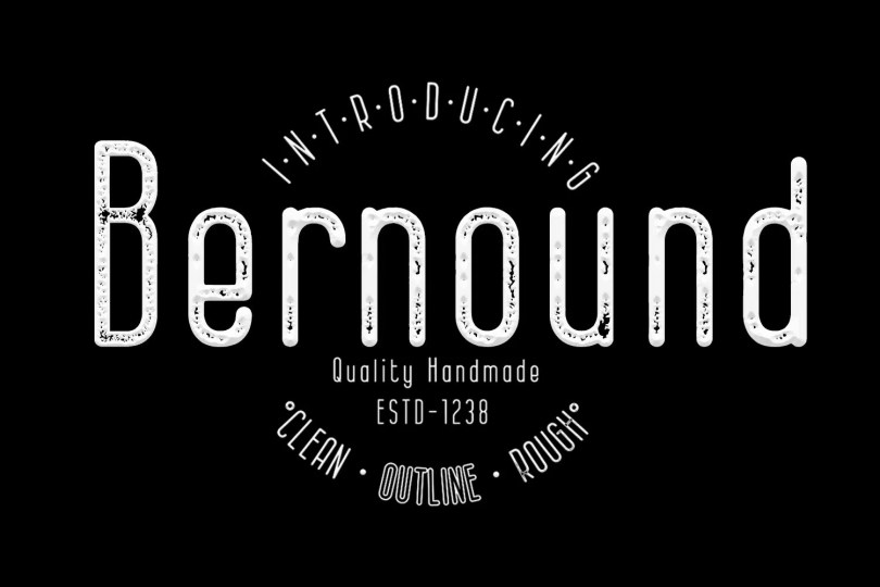 Bernound [3 Fonts]   The Fonts Master