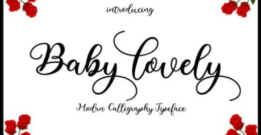 Baby Lovely [1 Font]   The Fonts Master