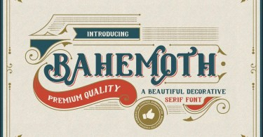 Bahemoth [1 Font] | The Fonts Master