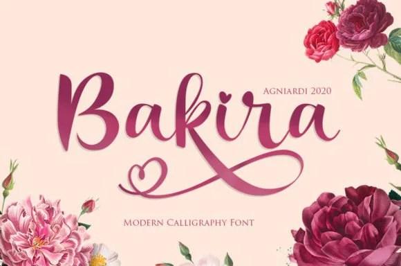 Bakira [1 Font]   The Fonts Master