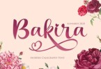 Bakira [1 Font] | The Fonts Master