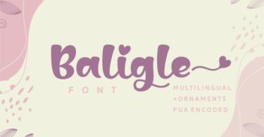 Baligle [1 Font]