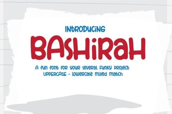 Bashirah [1 Font]   The Fonts Master