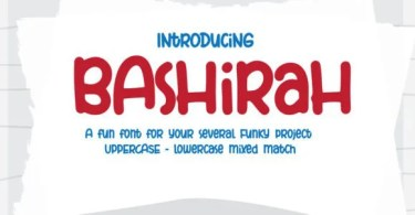Bashirah [1 Font] | The Fonts Master