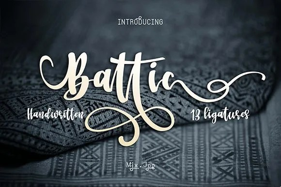 Battic [1 Font] | The Fonts Master