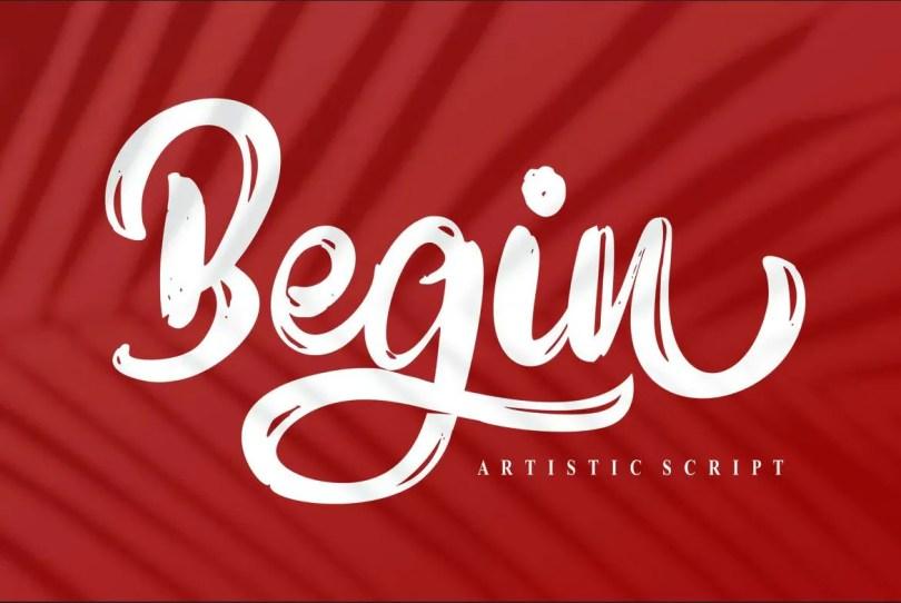 Begin [1 Font] | The Fonts Master