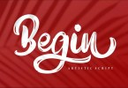 Begin [1 Font] | The Fonts Master