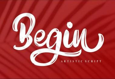 Begin [1 Font]