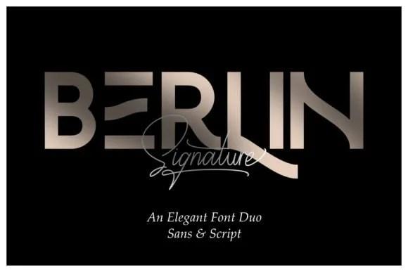 Berlin Signature Duo [2 Fonts]   The Fonts Master