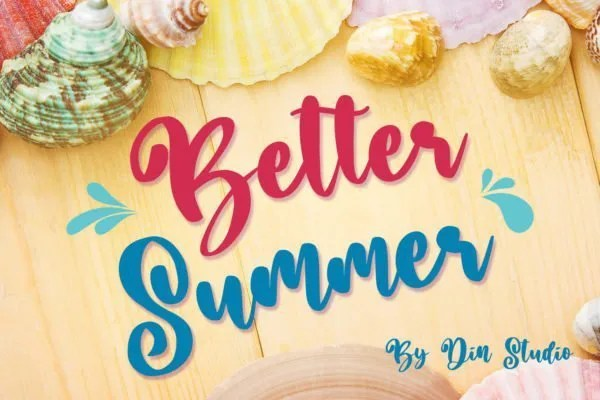 Better Summer [1 Font] | The Fonts Master