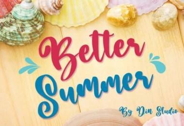 Better Summer [1 Font]
