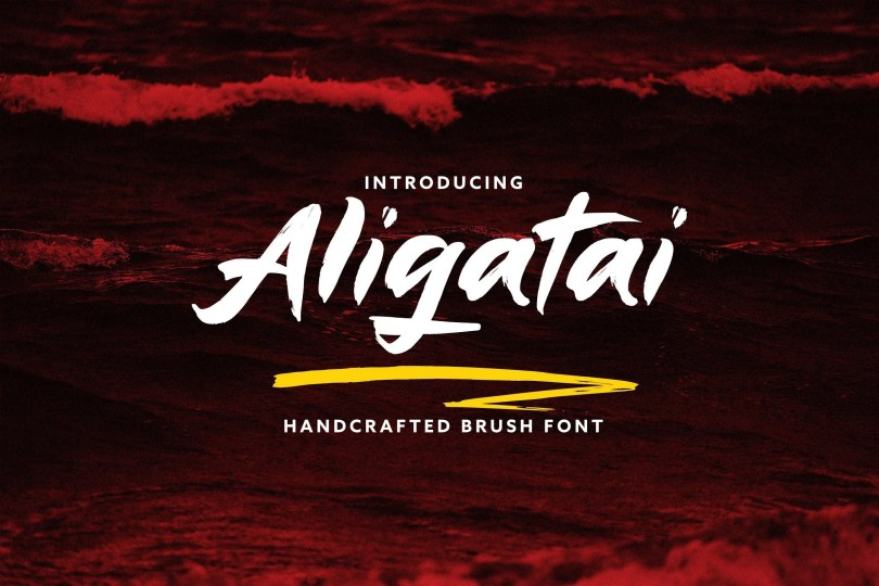 Aligatai [2 Fonts] | The Fonts Master