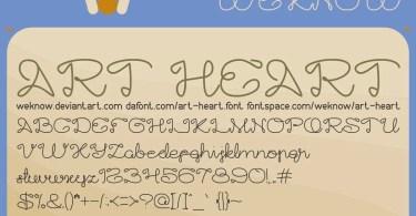 Art Heart [2 Fonts] | The Fonts Master