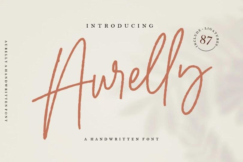 Aurelly Signature [4 Fonts] | The Fonts Master