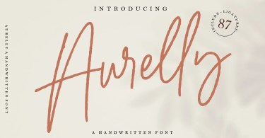 Aurelly Signature [4 Fonts]