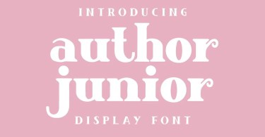 Author Junior [2 Fonts] | The Fonts Master