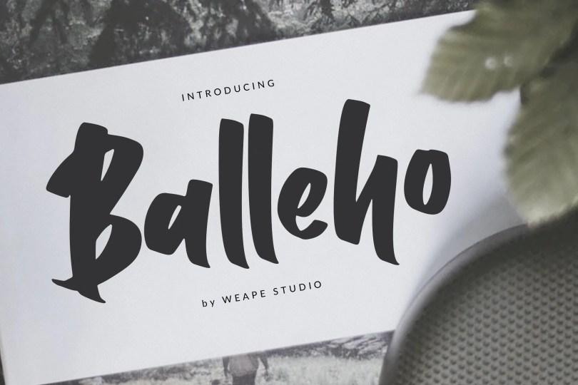 Balleho [1 Font] | The Fonts Master