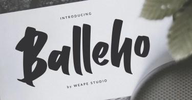 Balleho [1 Font]