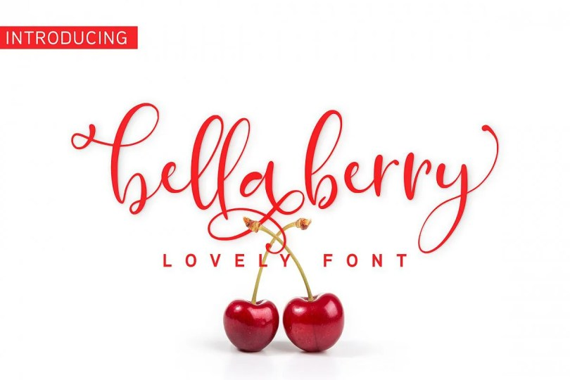 Bellaberry [1 Font] | The Fonts Master