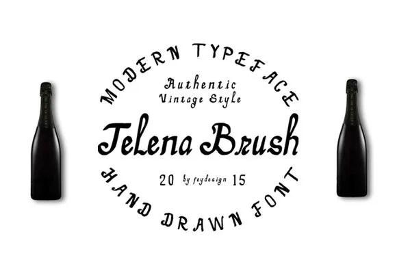 Telena Brush [2 Fonts]   The Fonts Master