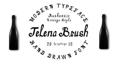 Telena Brush [2 Fonts]