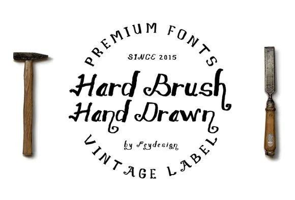 Hard Brush [2 Fonts] | The Fonts Master