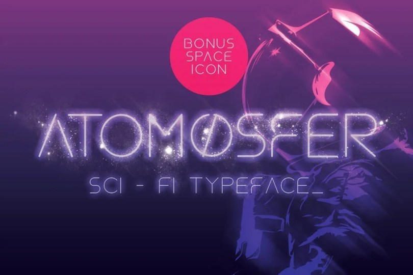 Atomosfer [1 Font] | The Fonts Master