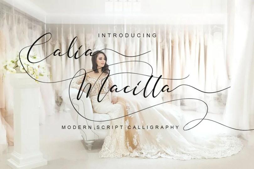 Calia Macitta [1 Font]   The Fonts Master