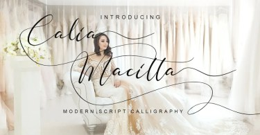 Calia Macitta [1 Font] | The Fonts Master