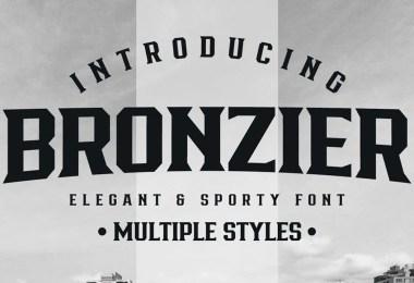 Bronzier [8 Fonts]