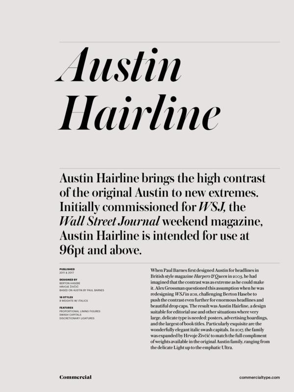 Austin Hairline Super Family [16 Fonts]